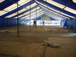 Foto's van Tent opbouw Woensdag 31 oktober 2007